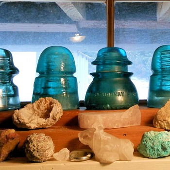 Vintage Glass Insulators Hemingray and Others