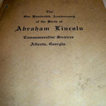 My new favorite book!!! 1909 100th anniversary of the birth of Abraham Lincoln - Books