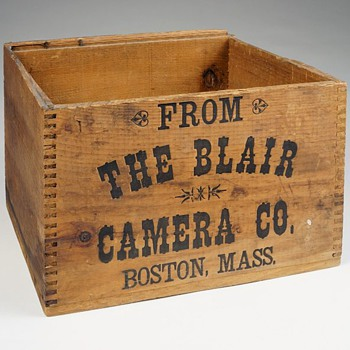 Blair Camera Company Wooden Shipping Box, c.1880s - 90s