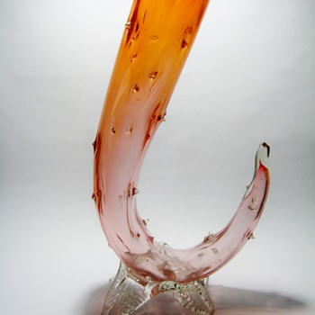 KRALIK THORN VASE  - Art Glass