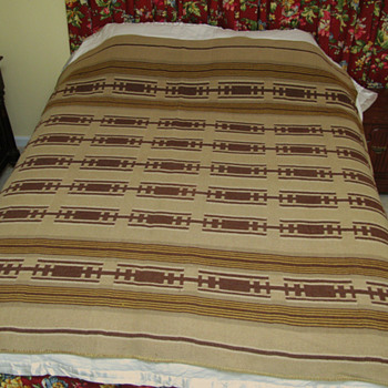 Is this wool blanket a Native American trade blanket - Rugs and Textiles
