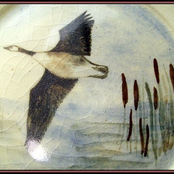 Unknown Plate and Mark - One Flying Duck - Pottery