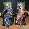 Strange Old Italian Seated Figures - Bookends?