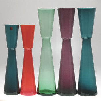 Alsterfors early 1960s - Vases by Fabian Lundqvist. - Art Glass