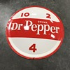 Dr Pepper soda pop button sign