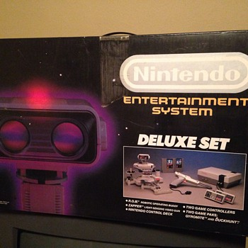 Nintendo Entertainment System and ROB Robot in box