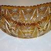 oval cut crystal bowl