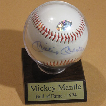 Mickey Mantle  .  .  .  Signed Baseball - Baseball