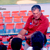 Ted Williams teaching Ball Players 1986