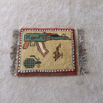 "Afghan War ""rug"" from Soviet era - Military and Wartime"