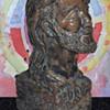 "1970 period Sculpture Bust of Bearded Hippie 11 1/4"" High"