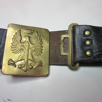 WW1 Polish or Russian Belt Buckle
