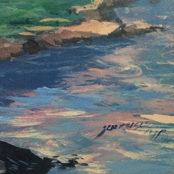 Beautiful golf painting  oil on canvas! unknown artist - Fine Art