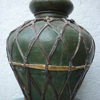 iron pot with leather
