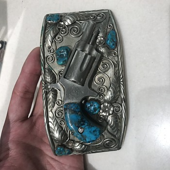 Custom Vintage Freedom Arms revolver belt buckle - Accessories