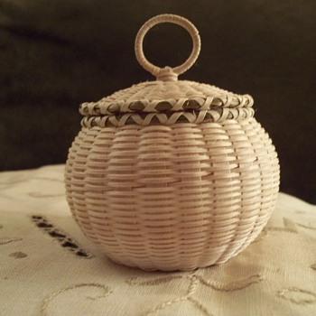 Fine Weave Basket made by Jeremy Frey, Passamaquoddy.