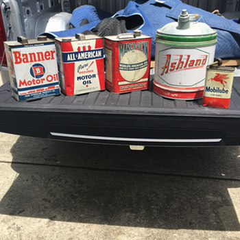 Banner, All-American, Marco-Penn, Ashland, Mobilube oil cans added to the collection  - Petroliana