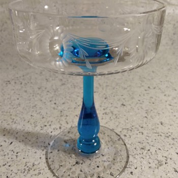 Help with ABP Cut/Engraved Compote or Tazza identification ? - Art Glass