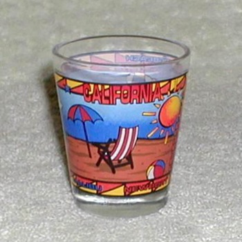 """California Beaches"" Shotglass - Glassware"
