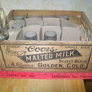 Coor's malt jars - Breweriana