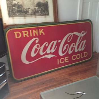 Vintage 1939 Porcelain Coke Sign - Made In Canada - Advertising