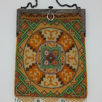 Geometric micro-beaded handbag circa 1920's? (repost) - Bags