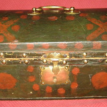 1805 Howell & Son Leather Covered Document Box Signed - Furniture