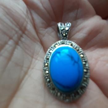 Turquoise pendant  - Fine Jewelry