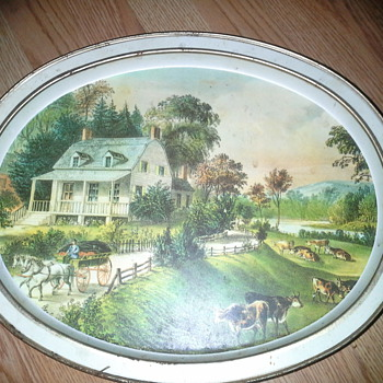 sunshine biscuit, inc tin    the morning ride by Currier&Ives