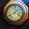 Antique Waterbury Clock Co. 1 day Time 6 Inch Lever Oak Octagon Wall Clock
