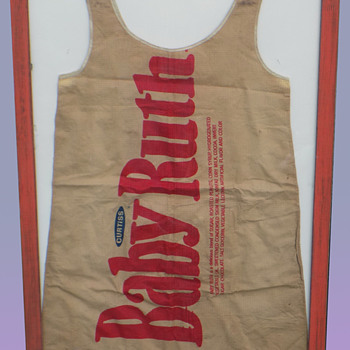 Vintage Pop Art BABY RUTH Paper Dress. Mars of Asheville, NC - Womens Clothing