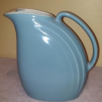 blue ceramic HALL POTTERY 'refrigerator pitcher' - Kitchen