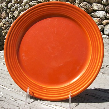 Bauer Pottery orange plate