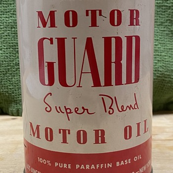 Motor Guard Super Blend extremely rare oil can  - Petroliana