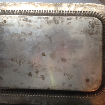 Is this a real Silver Tray? Has markings.  - Silver