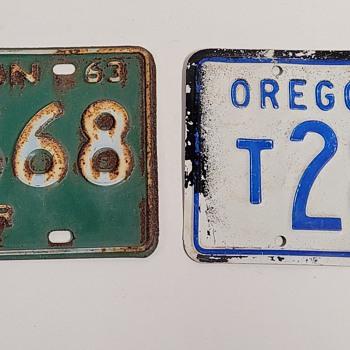 1958 Oregon & 1963 Michigan License Plates  - Classic Cars