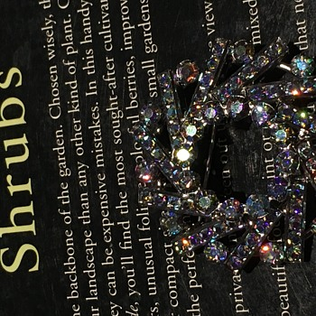 Crystal Brooch - Costume Jewelry