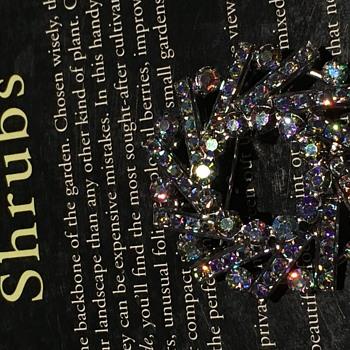 Crystal Brooch - Costume Jewelry
