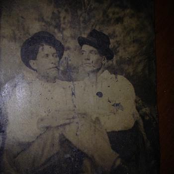 Male Couple (?)  Antique Tintype