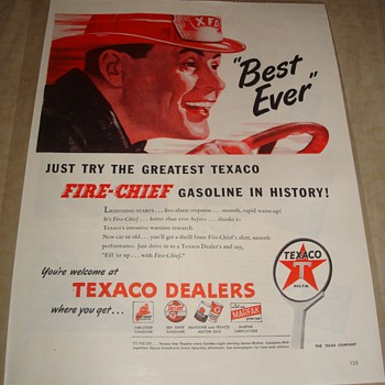 "Texaco Fire Chief ""Best Ever"" Magazine Ad"