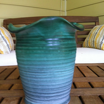 Weller Ware Green Vase - Pottery