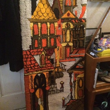 1970s San Francisco Hand Hooked Wool Rug Wall Hanging - Rugs and Textiles