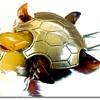 Vintage Modele Depose Tortoiseshell Galalith Swimming Turtle Fur Clip