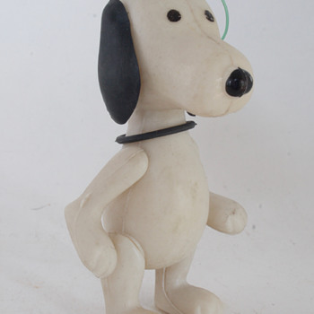 Vintage Snoopy Plastic Ornament - Christmas