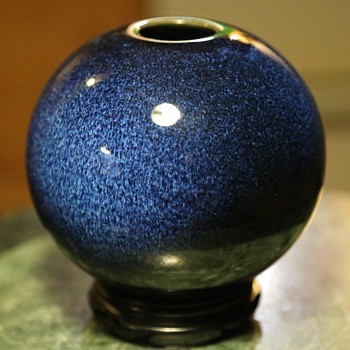 Beautifully Glazed Round Vase - Pottery