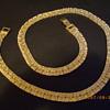 Gold Tone Reversable Necklace