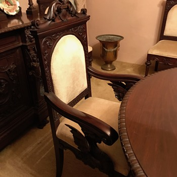 Grandmothers Dining table and chairs - Furniture