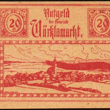 Austria - (20) Heller - Emergency Note - 1920