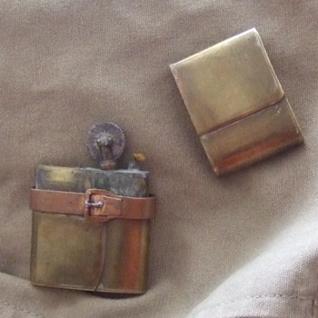WW1 Trench Art Figural Lighter (Satchel/ Map Case)