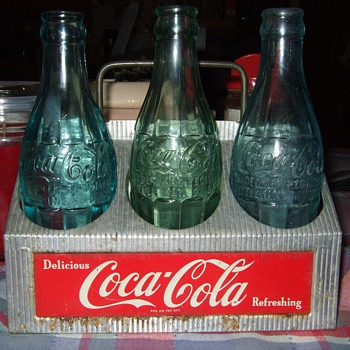 C. 1950's Coca Cola 6 bottle aluminum carrier... - Coca-Cola